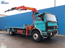 Camion plateau occasion Renault Gamme G 280 Palfinger crane, Manual, Steel suspension, Hub reduction