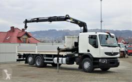 Camión caja abierta Renault Premium 340 DXI Pritsche 7,10m+Kran/FUNK