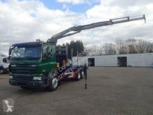 camion DAF 85.410 Pritsche mit PK16001 3x hydr. Aussch Funk