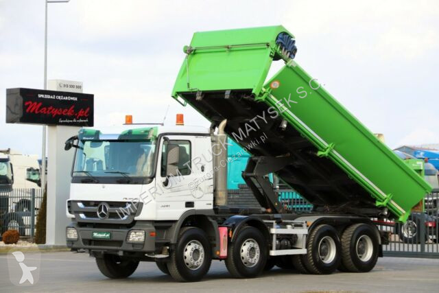 Voir les photos Camion Mercedes ACTROS 3241 / 8X4 / 2 SIDED TIPPER / BORTMATIC /