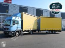 Camion remorque MAN TGL 8.220 4X2 BL / Komplettzug savoyarde système bâchage coulissant occasion