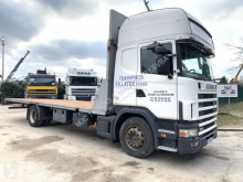 Camion plateau Scania 124L-420 TOPLINE - 7m70 platform - manual grs 900 3+3 - AIR suspension