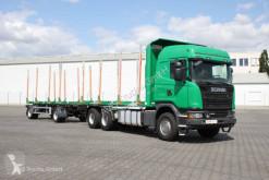 شاحنة مقطورة ناقلة خشب Scania G 490 6X4 Euro 6 Kurzholzzu mit BEFA Anhäner