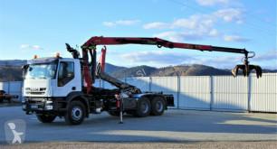 Ciężarówka Iveco TRAKKER 410 Abrollkipper+Kran 6x4 platforma używana