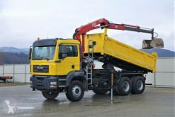 camion MAN TGA 26.390 Kipper 5,10 m + Kran/FUNK * 6x4!