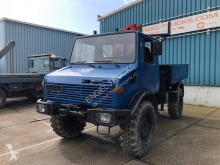 Vrachtwagen platte bak Mercedes UNIMOG WITH OPEN BOX AND PALFINGER CRANE (FULL STEEL / MANUAL GEARBOX)