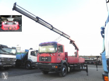 Camión caja abierta teleros MAN F2000 Palfinger PK 35.000 + Funkfernbedienung