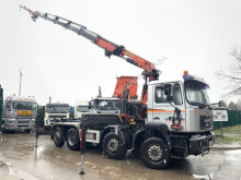 Camion MAN 28.464 - - MANUAL ZF - STEERING AXLE / HUB REDUCTION + CRANE PALFINGER PK 27000 D + JIB polybenne occasion