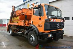 Camion Mercedes SK 1820 4x4 Winterdienst Streuer Kommunalplatte benne occasion