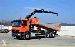 Mercedes flatbed truck Actros 2636 Kipper 6,30m+KRAN/FUNK !