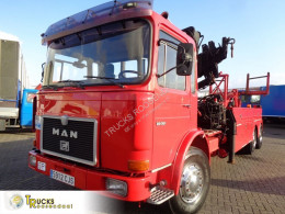 MAN 22.361 + Manual V10+ PTO + ZOLLERN Crane truck used car carrier