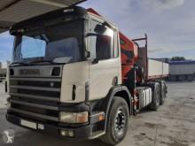 camion Scania TRACTORA GRUA CAJA ABIERTASCANIA 340 6X4 CRANE PALFINGER PK 4400