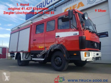 camion Mercedes 814 D Feuerwehr Löschfahrz.+Tank 41TKM 9 Sitzer