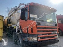 camion béton malaxeur + pompe Scania