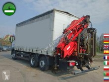 Camión lona corredera (tautliner) MAN TGS 26.360 6x2-2 LL Kran TIRRE 222 19,6m Joysti