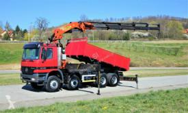 Vrachtwagen platte bak Mercedes Actros 4140 Kipper 5,20m+Kran/FUNK*8x6