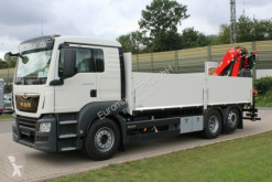 Camion MAN TGS 26.470/6X2Euro6d Retarder FASSI F195 plateau ridelles neuf
