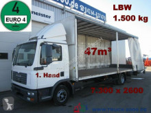 Camión MAN TGL 12.180 Schiebeplane 7.30m lang 47m³ LBW1.5t. lona usado