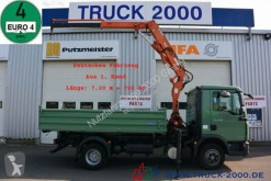 Camión MAN TGL 12.210 Meiller 3S + Kran Atlas TLC 65.2 1.Hd volquete trilateral usado
