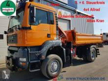 Camion tri-benne occasion MAN TGA 18.310 4x4 Meiller Atlas Kran 5+6Steuerkreis
