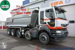 Camion Renault Kerax 520 DXI 10x4 Meiller 1.Hand Halfpipe Stahl multibenne occasion