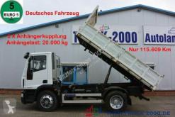 Vrachtwagen Iveco EuroCargo 120E25 3-S 3-Sitzer 2x AHK nur 115 tkm tweedehands driezijdige kipper