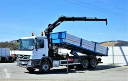 Vrachtwagen platte bak Mercedes Actros 2636 Kipper 6,50m+KRAN/FUNK !