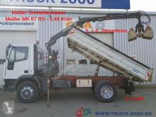 Camión caja abierta Iveco 120E18 3S. Meiller Kran 4m=1.8t 5.+6.Steuerkreis