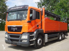 Camión MAN TGS 26.400 6x2 Pritsche Kran HIAB 166K PRO caja abierta usado