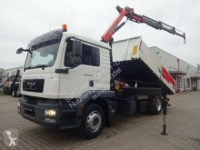 Camion plateau MAN 18.280 3S-Kipper + PK12002 3xhydr. Funk 5.+6.Bed