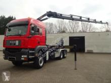 Камион мултилифт втора употреба MAN 28.480 Abrollkipp. HIAB 288 6xhydr. 4Punkt 6x4-4