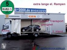 Mercedes tow truck 922 Atego Geschlossener Transport + el. Rampen