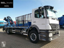 Mercedes Axor 1833 L / Glastransport / Kran / German truck used flatbed
