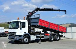 Camion plateau Mercedes Actros 2636 Kipper 6,50m+KRAN/FUNK !