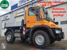 Camion benă Mercedes Unimog U 400 4x4 3 S. Wechsellenkung Scheckheft