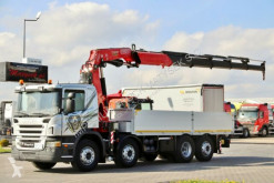 Грузовик Scania P 420 / 8X2 / BOX + CRANE FASSI F455XP/RADIO CON платформа б/у