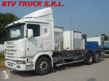 Scania 144 - 460 MOTRICE SCARRABILE PORTACASSE MOBILI truck
