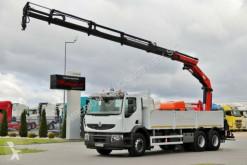 Camion cassone usato Renault KERAX 380 DXI/6X4/L:6,5M+PALFINGER PK20002/RADIO
