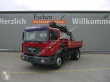 Camion tri-benne MAN ME 18.250 B Meiller 3-S-Kipper, Hiab 085-2 Kran