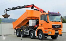 Camion benne MAN TGS 35.400 Kipper 4,70m + Kran* 8x4 !!!