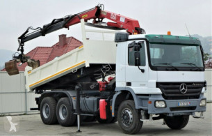 camion Mercedes Actros 3336 Kipper 4,60m+Kran/FUNK Topzustand!