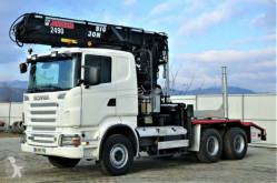 Camion Scania R 560 Holztransporter+Kran*Topzustan 6x4 plateau occasion