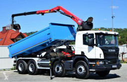 Lastbil dubbel vagn Scania P 400