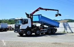 Vrachtwagen Scania P400 Kipper 5,30m + Kran*8x4*EURO 6*Topzustand tweedehands platte bak