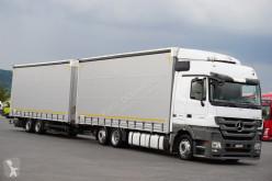 Mercedes tautliner trailer truck
