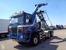 Camion Ginaf M 3333-S +6x6+ PTO + Palfinger Crane + Container Kipper benne occasion