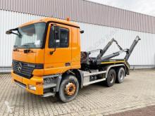 Kamión vozidlo s hákovým nosičom kontajnerov Mercedes Actros 2640 6x4 2640 6x4, Meiller Teleabsetzer, Grüne Plakette