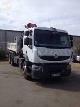 Renault hátra és egy oldalra billenő kocsi teherautó Premium Lander
