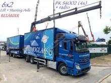 Használt függönyponyvaroló nyerges vontató és pótkocsi Mercedes Actros