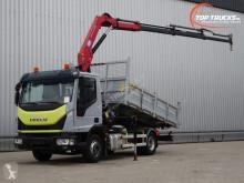 camion Iveco ML100-210 7 tm HMF kraan, Crane, Kran, Kipper, Tipper